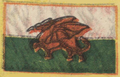 Flag of Wales from 1919 Marshal Foch victory-harmony banner - Edited.png