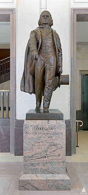 John McLoughlin (Proctor) - The statue at the United States Capitol in 2011