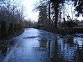 Flooded lane beside the Rhiw - geograph.org.uk - 661781.jpg