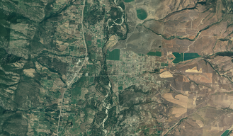 Florence, Montana - US FSA aerial photograph of Florence in 2005