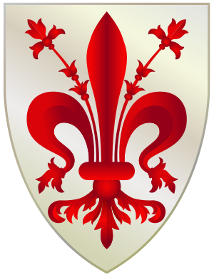 Coat of Arms of Florence, Italy, traced off of...