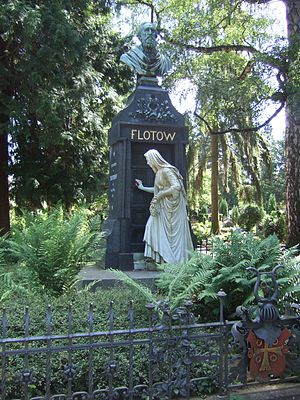 "Friedrich von Flotow - Grave of Friedrich von Flotow in the ""Alter Friedhof"" (old cemetery) in Darmstadt, Germany"