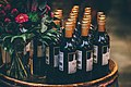 Flower bouquet and wine bottles (Unsplash).jpg