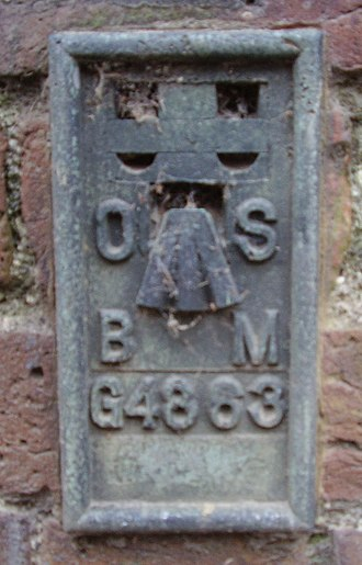 Benchmark (surveying) - An Ordnance Survey flush bracket