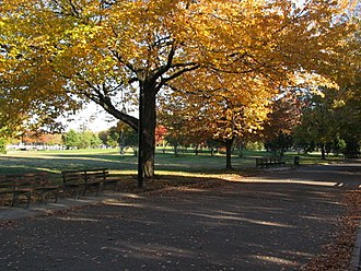 Flushing Meadows–Corona Park - The park in fall
