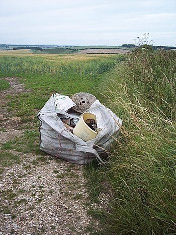 English: Flytip Beside Howgare Road Fly-tippin...