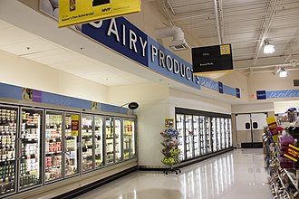 Food Lion - Dairy section of a Food Lion in Hampton, Virginia