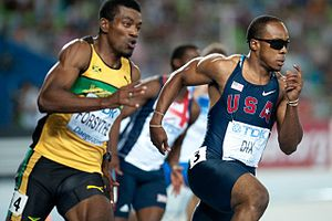 Mario Forsythe - Mario Forsythe (left) and Walter Dix during 2011 World Championships in Athletics in Daegu