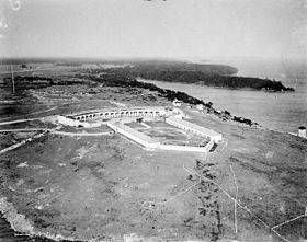 Photo aérienne du Fort Henry en 1920