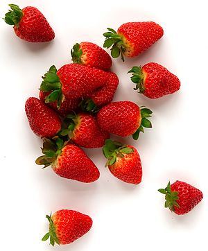 "Garden Strawberry ""Fragaria""."