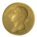 Framsida av medalj med bild av Karl XIV Johan i profil, 1821 - Skoklosters slott - 99264.tif