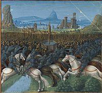 Français 5594, fol. 197 haut, Bataille de Kefar Kanna (1187).jpeg