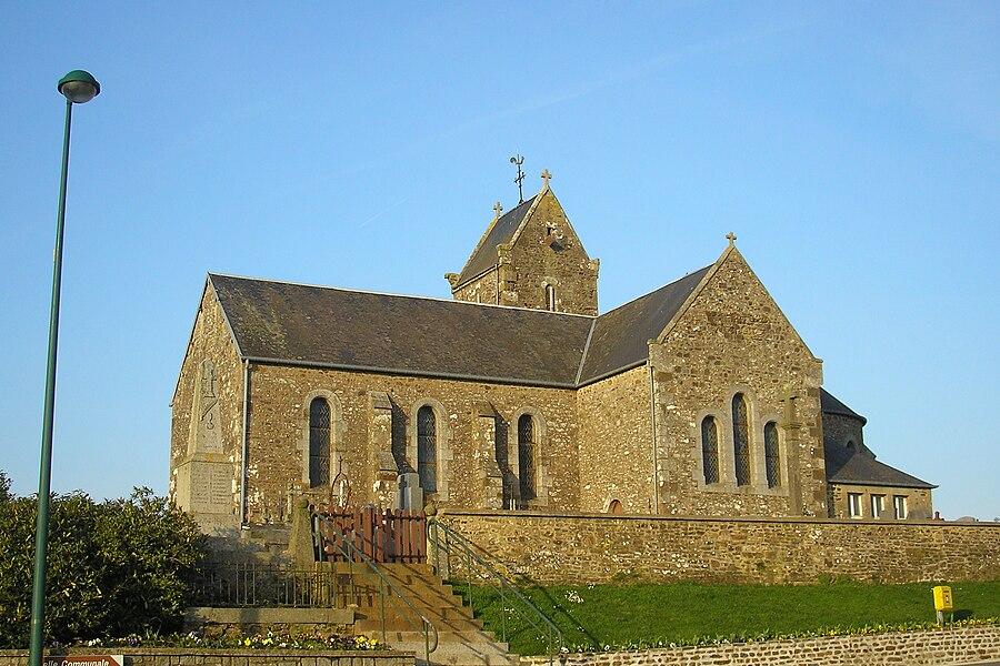 Montjoie-Saint-Martin (Normandie, France). L'église.