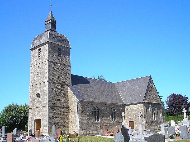 Saint-Martin-le-Bouillant (Normandie, France). L'église Saint-Martin.
