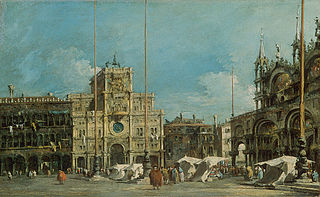 The Torre dell'Orologio in Piazza San Marco