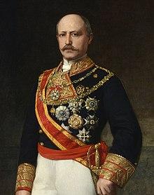 Retrato delgeneral Serrano, último presidente de laI República, que impuso una dictadura desdeenerohastadiciembrede1874, una de cuyas primeras medidas fue prohibir la Internacional.