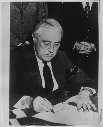 Franklin D. Roosevelt at The White House - NAR...