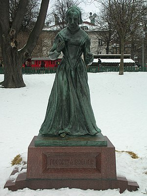 Fredrika Bremer - Statue depicting Fredrika Bremer in Stockholm, unveiled 2 June 1927
