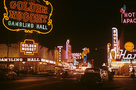 Golden Nugget and Pioneer Club along Fremont Street in 1952 Fremont Street 1952.JPG