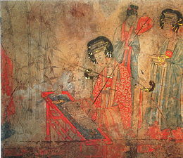 Fresco Songjingtu, Liao Dynasty Tomb at Baoshan