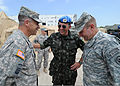 From right, U.S. Army Lt. Gen. Ken Keen, the commanding general of Joint Task Force - Haiti, Brazilian army Gen. Floriano Peixoto, the commander of the United Nations Stabilization Mission in Haiti, and 100311-N-HX866-010.jpg