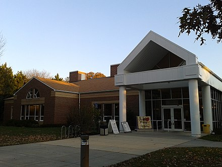 Sherwood Regional library (Hybla Valley) of Fairfax County Public Library in 2014 Front entrance of the Sherwood Regional Library.jpg