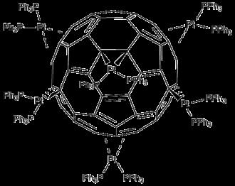 Transition metal alkene complex - Image: Fullerene 4