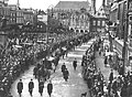 Funeral procession for Hendrik Antoon Lorentz on the Grote Markt, Haarlem, 9 February 1928.jpg
