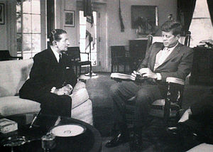 George Borg Olivier - Prime Minister George Borg Olivier meeting with US President John F. Kennedy in September, 1963