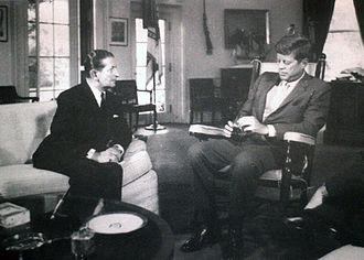 George Borg Olivier - Prime Minister George Borg Olivier meeting with US President John F. Kennedy in September, 1963