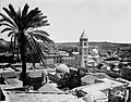 GENERAL VIEW OF THE OLD CITY OF JERUSALEM FROM THE NORTH, DOMINATED BY THE TOWER OF THE LUTHERAN CHURCH IN THE MURISTAN AREA. (COURTESY OF AMERICAN CO.jpg