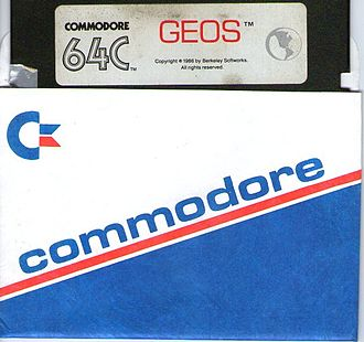 GEOS (8-bit operating system) - Floppy disk containing GEOS for Commodore 64C (1986)