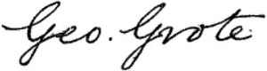George Grote - Image: G Grote Signature