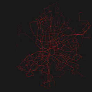 General Transit Feed Specification - Visualization of GTFS transit routes in Madrid