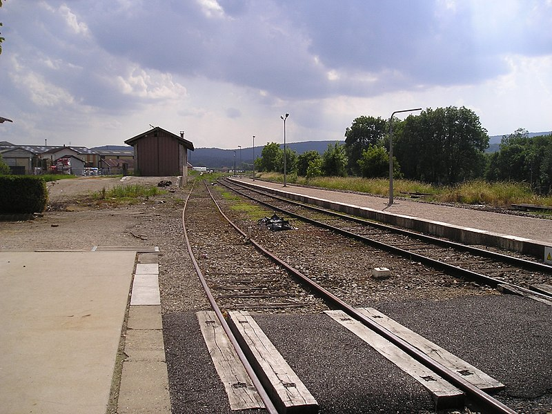Railroad station of Villereversure
