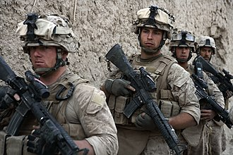 Battle of Garmsir - US Marines with Bravo 1/6, 24th MEU in Garmsir, Afghanistan, May 2008