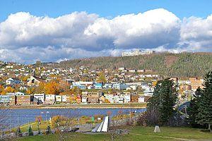 Gaspé, Quebec - Image: Gaspé Centre ville Nord