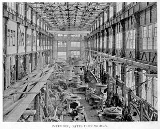 Allis-Chalmers - Gates Iron Works, Interior, 1896.