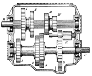 Layshaft - Early, pre-1911, all-indirect gearbox