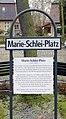 Gedenktafel Marie-Schlei-Platz (Tegel) Marie-Schlei-Platz.jpg