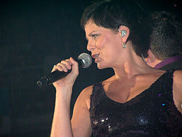 Geena Lisa tijdens Steracteur Sterartiest Live on Stage (2008).