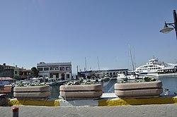 The port of Gelibolu on the Dardanelles strait