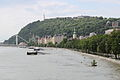 Gellért Hill above the water.JPG
