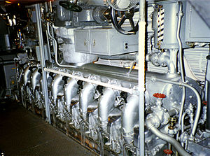 Balao-class submarine - General Motors Model 16-248 V16 diesel engine