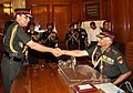 General V.K. Singh takes over the charge as new Chief of Army Staff from General Deepak Kapoor, in New Delhi on March 31, 2010.jpg