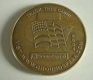 Geocoin - A 2004 USA Geocoin