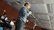 Geoff Brigham en Wikimanía 2013 (1376116800) Hung Hom, Hong Kong.jpg