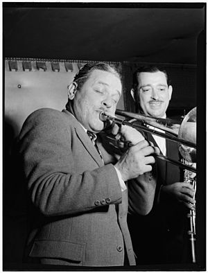 George Brunies - George Brunis and Tony Parenti, Jimmy Ryan's (Club), New York, ca. August 1946. Image: Gottlieb