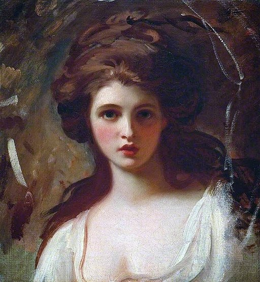 George Romney - Lady Hamilton as Circe