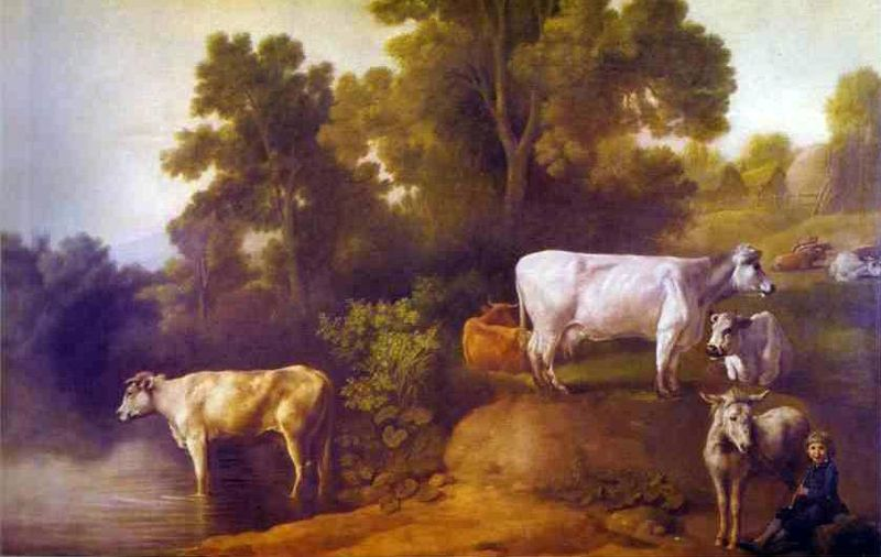 File:George Stubbs- Cattle by a Stream.JPG
